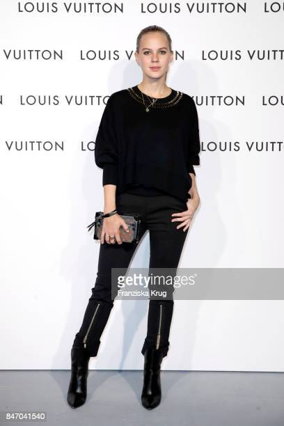 Alicia von Rittberg wearing Louis Vuitton attends the 'Louis Vuitton Time Capsule' Exhibition Opening at Franzoesisches Palais on September 14 2017...