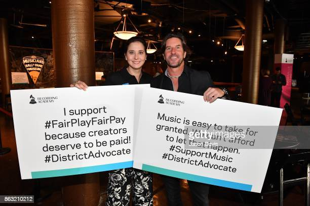 Alicia Warwick and Brett James arrives at the The Recording Academy District Advocate Day at Musicians Hall of Fame and Museum on October 19 2017 in...
