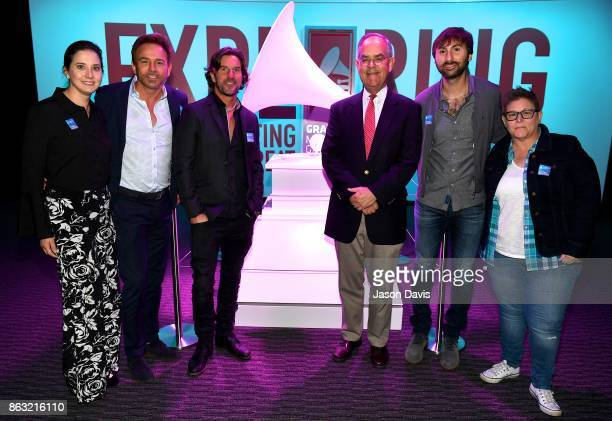 Alicia Warwick Fletcher Foster Brett James Jim Cooper Dave Haywood and Bonnie Baker arrive at the The Recording Academy District Advocate Day at...
