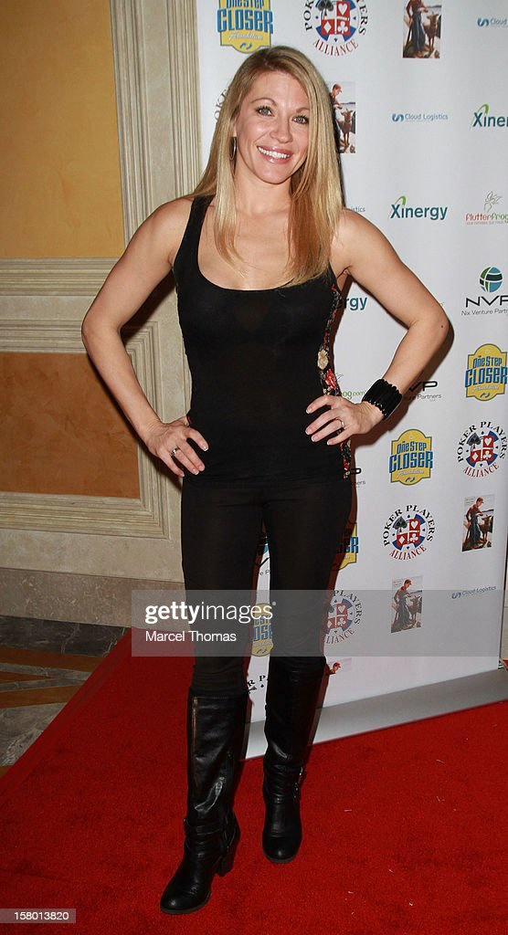 Alicia Webb attends the 5th Annual 'All in for CP' Celebrity Poker tournament at the Venetian Hotel and Casino Resort on December 8, 2012 in Las Vegas, Nevada.