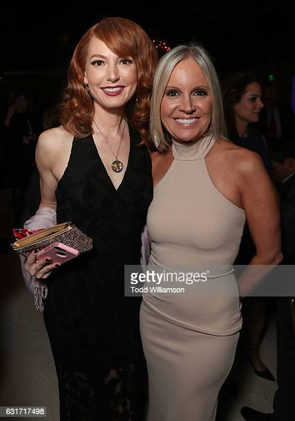 Alicia Witt and Hallmark EVP of Programming and Network Publicity Michelle Vicary attend the Hallmark Channel And Hallmark Movies And Mysteries...