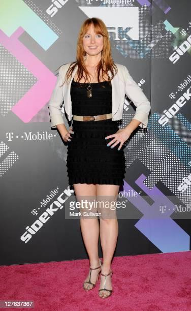 Alicia Witt arrives for the TMobile Sidekick 4G launch celebration on April 20 2011 in Beverly Hills California