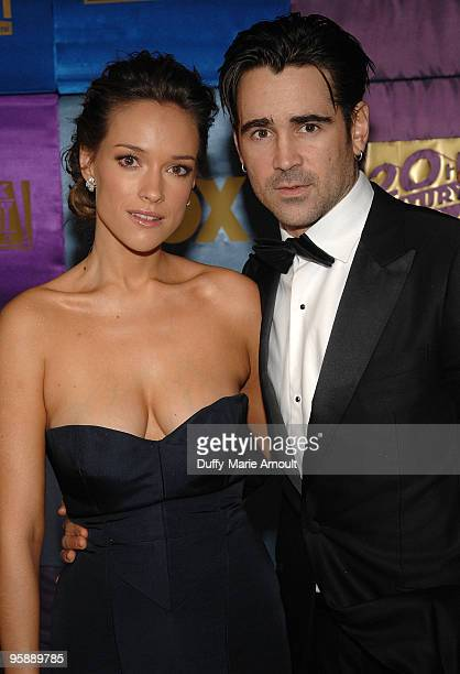 Alicja BachledaCurus and Actor Colin Farrell attend Fox's 2010 Golden Globes Awards Party at Craft on January 17 2010 in Century City California