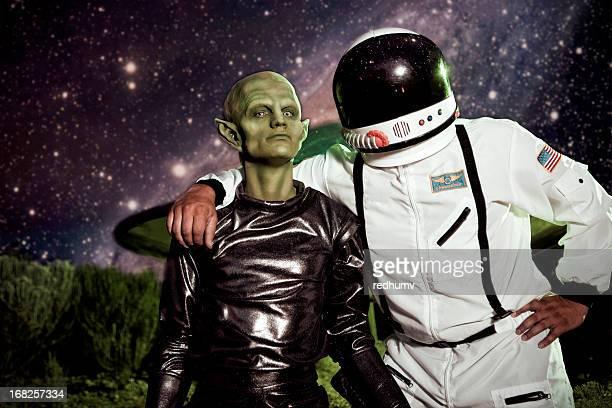 Alien et Astronaute OVNI Vaisseau spatial Landing