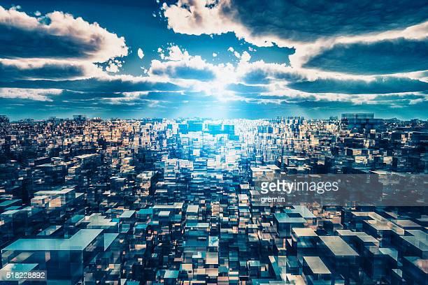 Fremd futuristischen Stadtbild