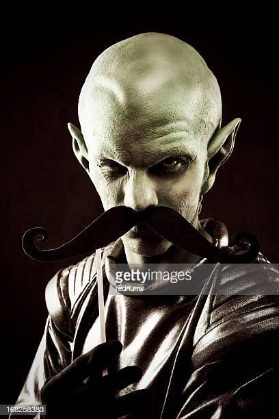 Alien Portrait and Mustache