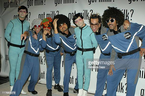 Alien Scientists and The Brittlelacticans during New 'Got Milk' Commercial Premiere at Cinespace in Hollywood California United States