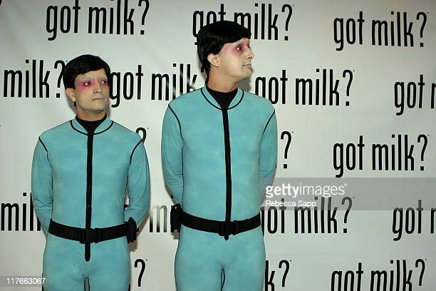 Alien Scientists during New 'Got Milk' Commercial Premiere at Cinespace in Hollywood California United States