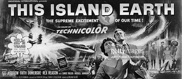 Aliens from the planet Metaluna attempt to take over the world in the scifi movie 'This Island Earth' starring Jeff Molrrow Rex Reason and Faith...