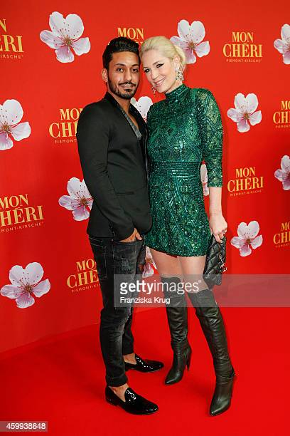 Alieu and Sarah Kern attend the Mon Cheri Barbara Tag 2014 at Haus der Kunst on December 4 2014 in Munich Germany