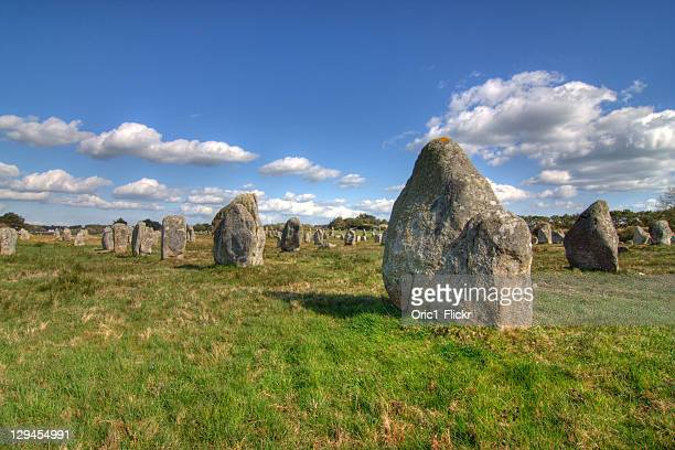 Alignments of Megalithic standing stones