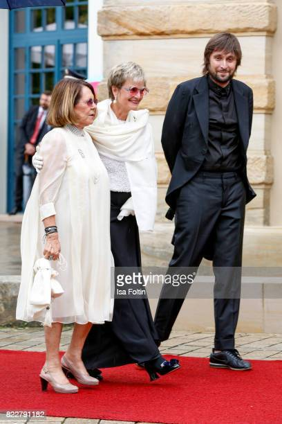 Aliki Goulandris Gloria von Thurn und Taxis and Francesco Vezzoli attend the Bayreuth Festival 2017 Opening on July 25 2017 in Bayreuth Germany