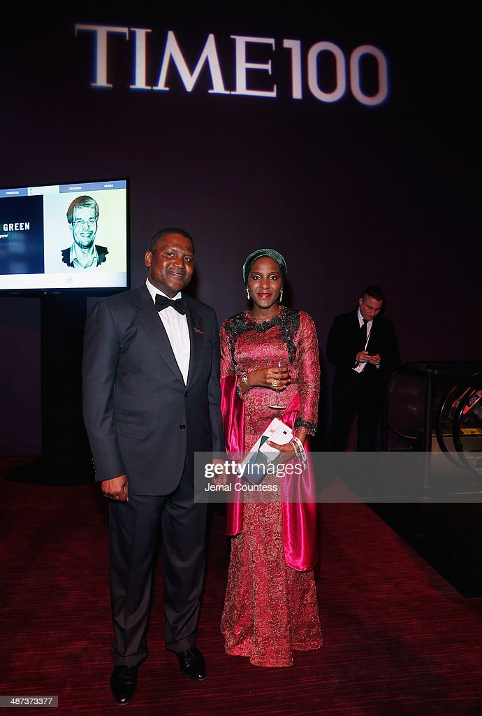 Aliko Dangote and Halima Dangote attend the TIME 100 Gala, TIME's 100 most influential people in the world, at Jazz at Lincoln Center on April 29, 2014 in New York City.