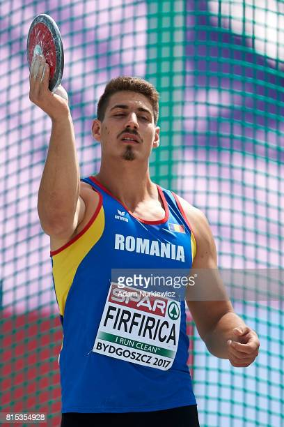 Alin Alexandru Firfirica from Romania competes in men's discus throw final during Day 4 of European Athletics U23 Championships 2017 at Zawisza...