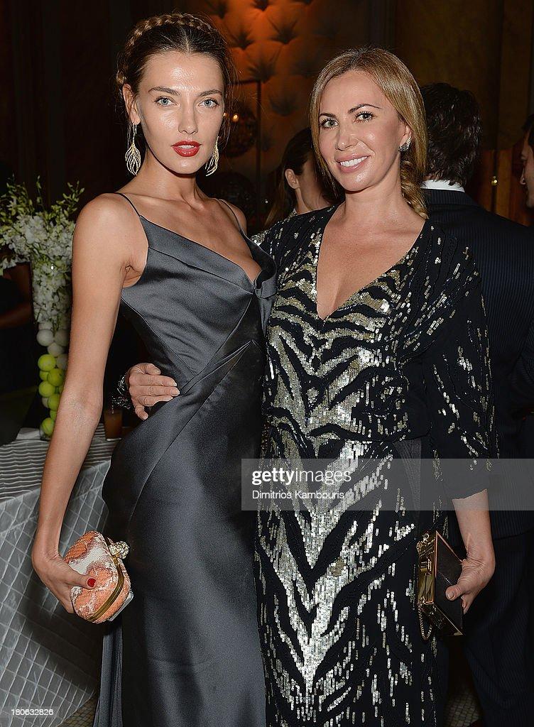 Alina Baikova and Inga Rubenstein attend The Novak Djokovic Foundation New York Dinner at Capitale on September 10, 2013 in New York City.