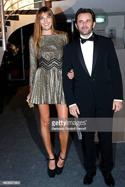 Alina Baikova and owner of 'BleuMarine' Gianguido Tarabini attend the Annual Charity Dinner hosted by the AEM Association Children of the World for...
