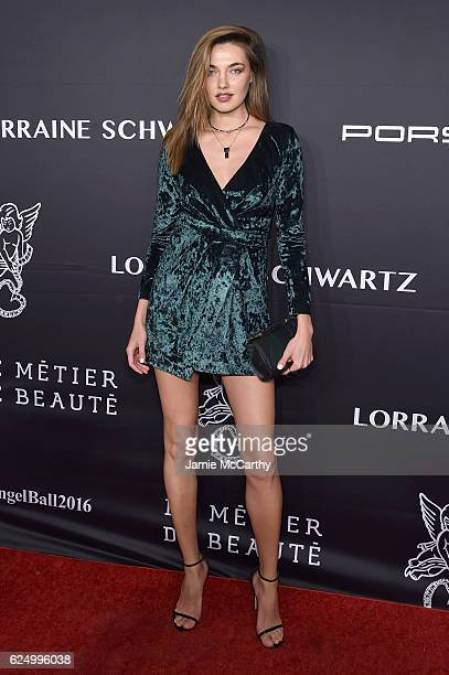 Alina Baikova attends the 2016 Angel Ball hosted by Gabrielle's Angel Foundation For Cancer Research on November 21 2016 in New York City
