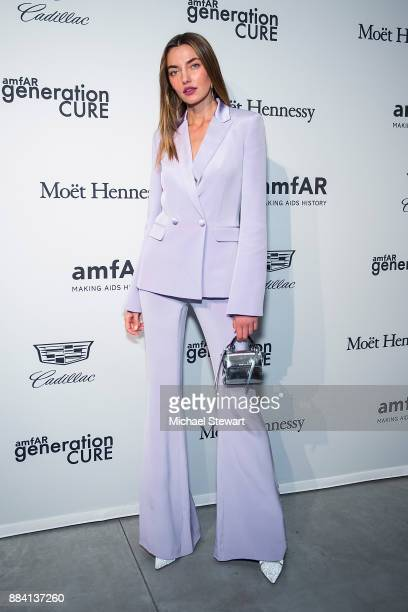 Alina Baikova attends the 2017 amfAR generationCURE holiday party at the Cadillac House on December 1 2017 in New York City