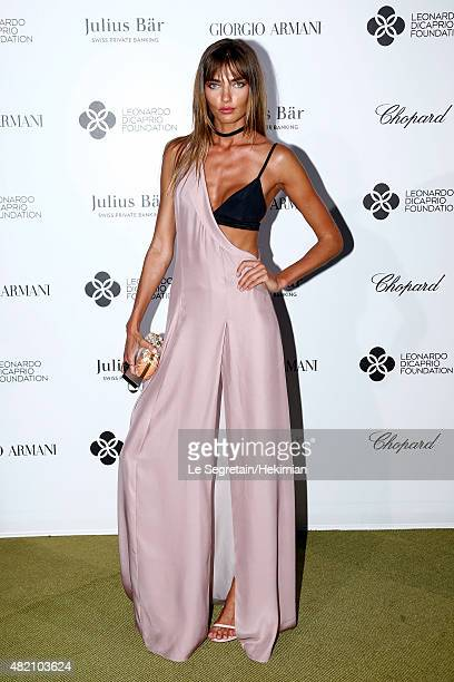 Alina Baikova attends the cocktail during The Leonardo DiCaprio Foundation 2nd Annual SaintTropez Gala at Domaine Bertaud Belieu on July 22 2015 in...