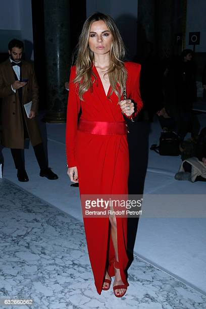 Alina Baikova attends the Elie Saab Haute Couture Spring Summer 2017 show as part of Paris Fashion Week on January 25 2017 in Paris France