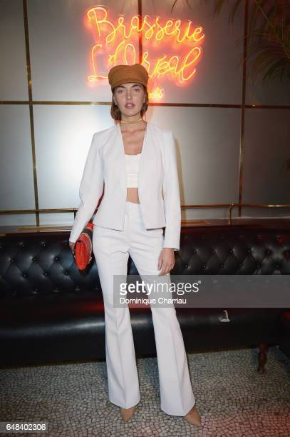 Alina Baikova attends the 'L'Oreal Paris Dinner Hosted By Julianne Moore' as part of the Paris Fashion Week Womenswear Fall/Winter 2017/2018 on March...