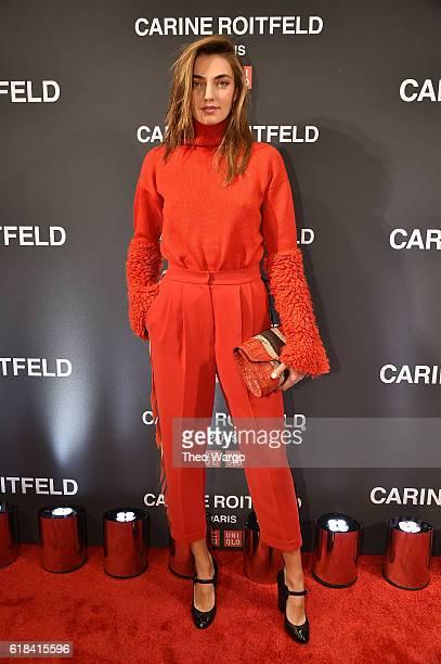 Alina Baikova attends the UNIQLO Fall/Winter 2016 Carine Roitfeld collection launch at UNIQLO on October 26 2016 in New York City