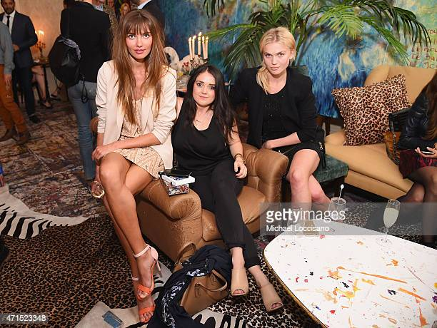 Alina Baikova Brooke Caldwell and Anastasia Boo attend the alice olivia by Stacey Bendet and the CFDA celebration of the alice olivia and Domingo...