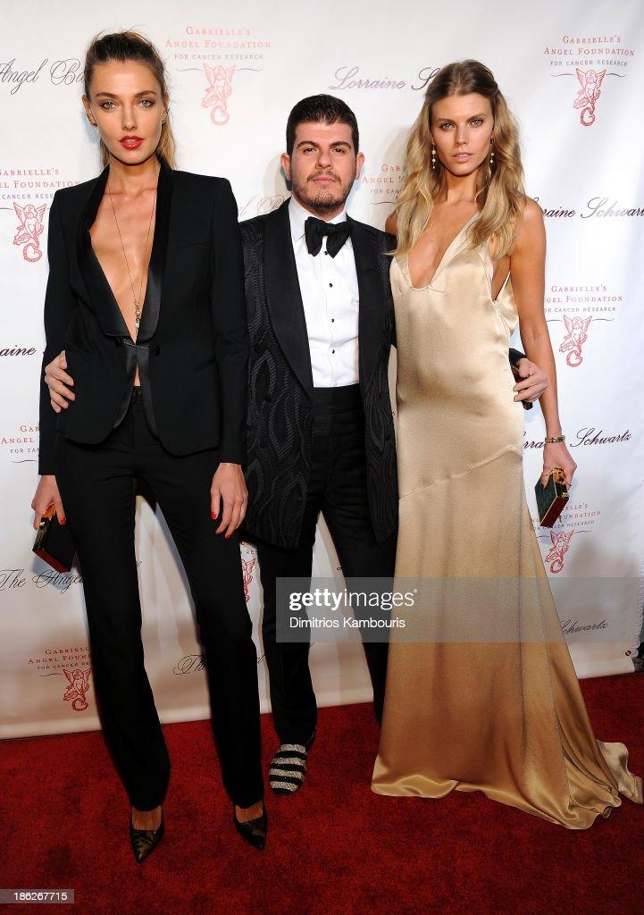 Alina Baikova, Eli Mizrahi, and Maryna Linchuk attend Gabrielle's Angel Foundation Hosts Angel Ball 2013 at Cipriani Wall Street on October 29, 2013 in New York City.