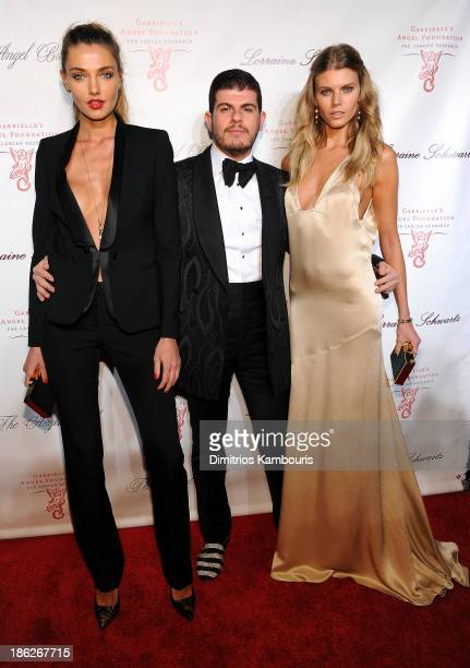 Alina Baikova Eli Mizrahi and Maryna Linchuk attend Gabrielle's Angel Foundation Hosts Angel Ball 2013 at Cipriani Wall Street on October 29 2013 in...