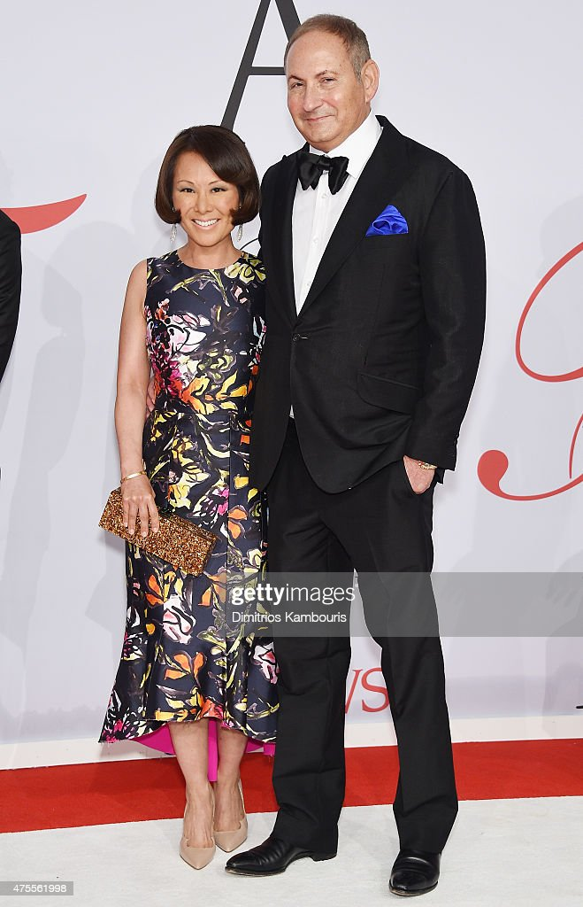 Alina Cho and John Demsey attend the 2015 CFDA Fashion Awards at Alice Tully Hall at Lincoln Center on June 1 2015 in New York City