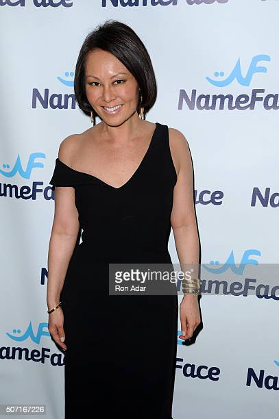 Alina Cho attends the NameFacecom launch at No 8 on January 27 2016 in New York City