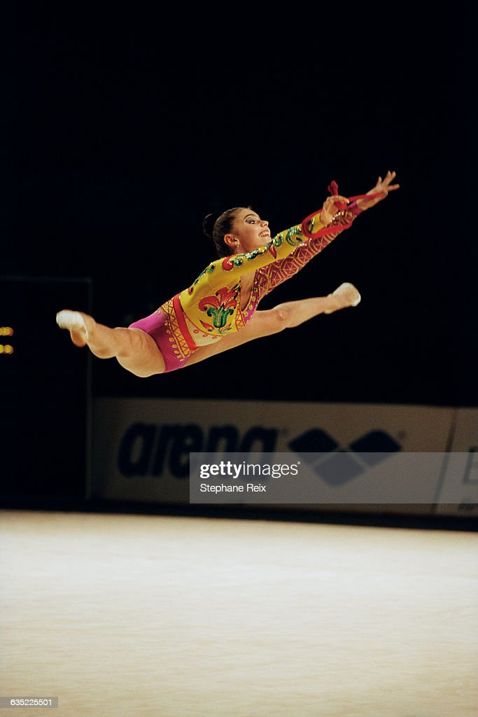 <a gi-track='captionPersonalityLinkClicked' href=/galleries/search?phrase=Alina+Kabaeva&family=editorial&specificpeople=633246 ng-click='$event.stopPropagation()'>Alina Kabaeva</a> from Russia performs with ribbon at the International tournament of Thiais. | Location: Thiais, France.