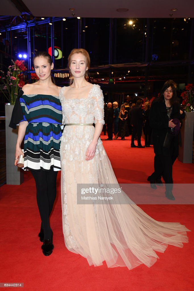 Alina Levshin and Franziska Petr attend the 'Django' premiere during the 67th Berlinale International Film Festival Berlin at Berlinale Palace on February 9, 2017 in Berlin, Germany.