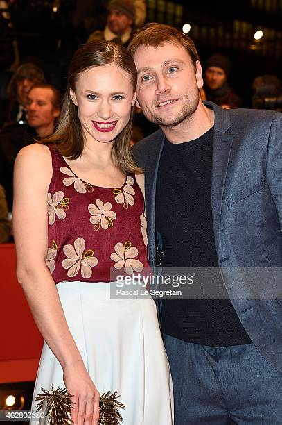Alina Levshin and Max Riemelt attend the 'Nobody Wants the Night' premiere and Opening Ceremony of the 65th Berlinale International Film Festival at...