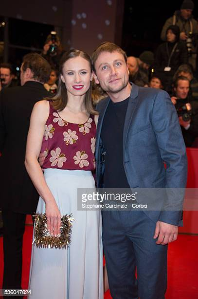 Alina Levshin and Max Riemelt attend the 'Nobody Wants the Night' Opening Night premiere during the 65th Berlinale International Film Festival at...
