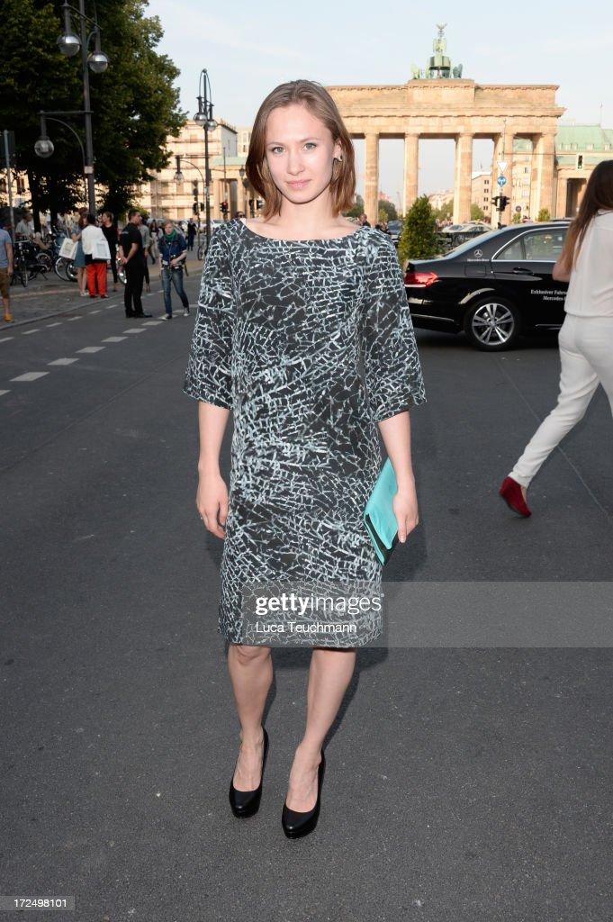 Alina Levshin attends the Kilian Kerner Show during Mercedes-Benz Fashion Week Spring/Summer 2014 at Brandenburg Gate on July 2, 2013 in Berlin, Germany.