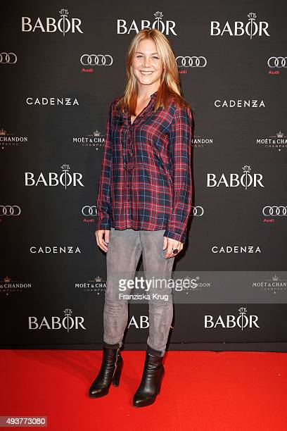 Alina Merkau attends the BABOR Opening Cocktail on October 22 2015 in Berlin Germany