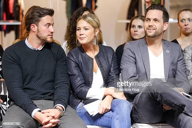 Alina Merkau Matthias Killing and guest attend the 'La Boum Fashion Studio' by Soccx in Hoppegarten on September 18 2015 Berlin Germany