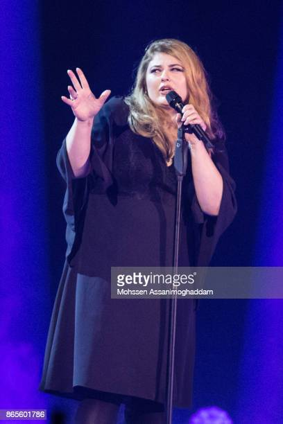 Alina performs during the show 'Das Internationale Schlagerfest' at Westfalenhalle on October 21 2017 in Dortmund Germany