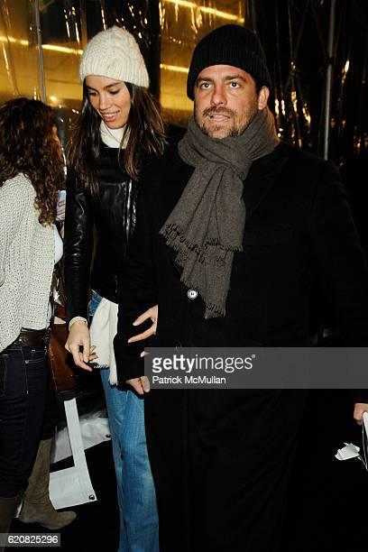 Alina Puscau and Brett Ratner attend STONES SCORSESE 'SHINE A LIGHT' World Premiere at Ziegfeld Theater on March 30 2008 in New York City