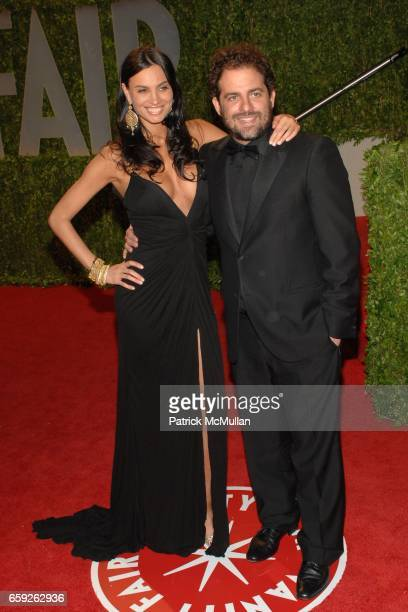 Alina Puscau and Brett Ratner attend Vanity Fair Oscar Party at Sunset Tower Hotel on February 22 2009 in Los Angeles California