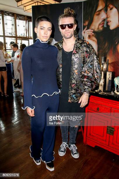 Alina Sueggeler and Andi Weizel of the band Frida Gold attend the Thomas Sabo Press Cocktail during the MercedesBenz Fashion Week Berlin...