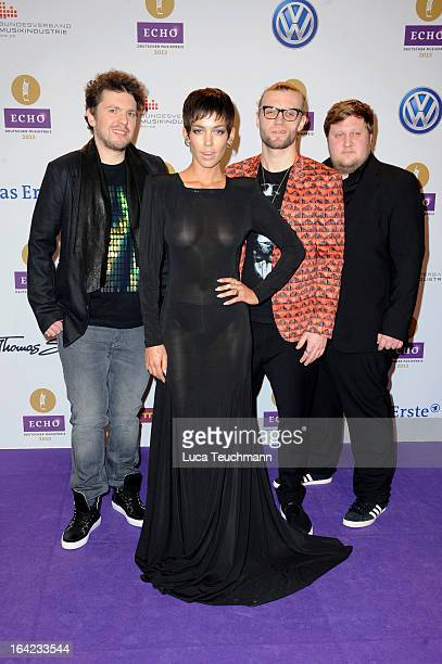 Alina Sueggeler and band attend the Echo Award 2013 at Palais am Funkturm on March 21 2013 in Berlin Germany