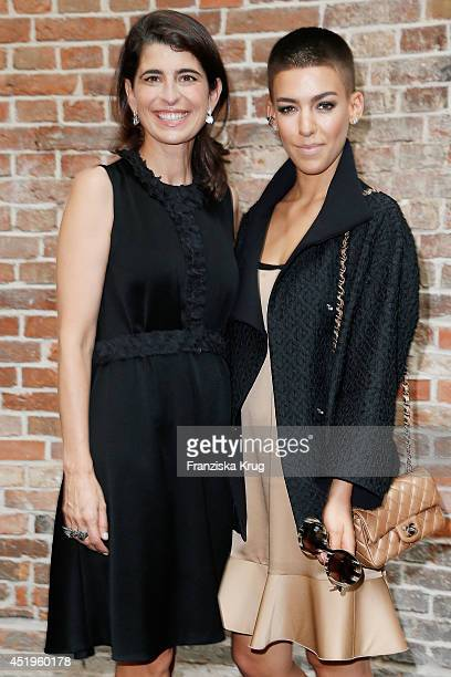 Alina Sueggeler and Dorothee Schumacher attend the Schumacher show during the MercedesBenz Fashion Week Spring/Summer 2015 at Sankt Elisabeth Kirche...