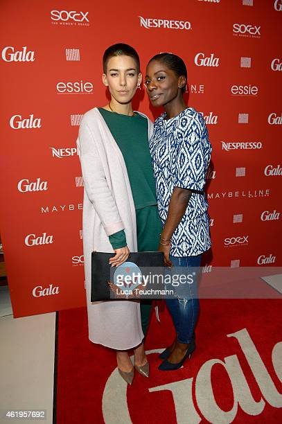 Alina Sueggeler and Nikeata Thompson attend the GALA Fashion Brunch at Ellington Hotel on January 22 2015 in Berlin Germany