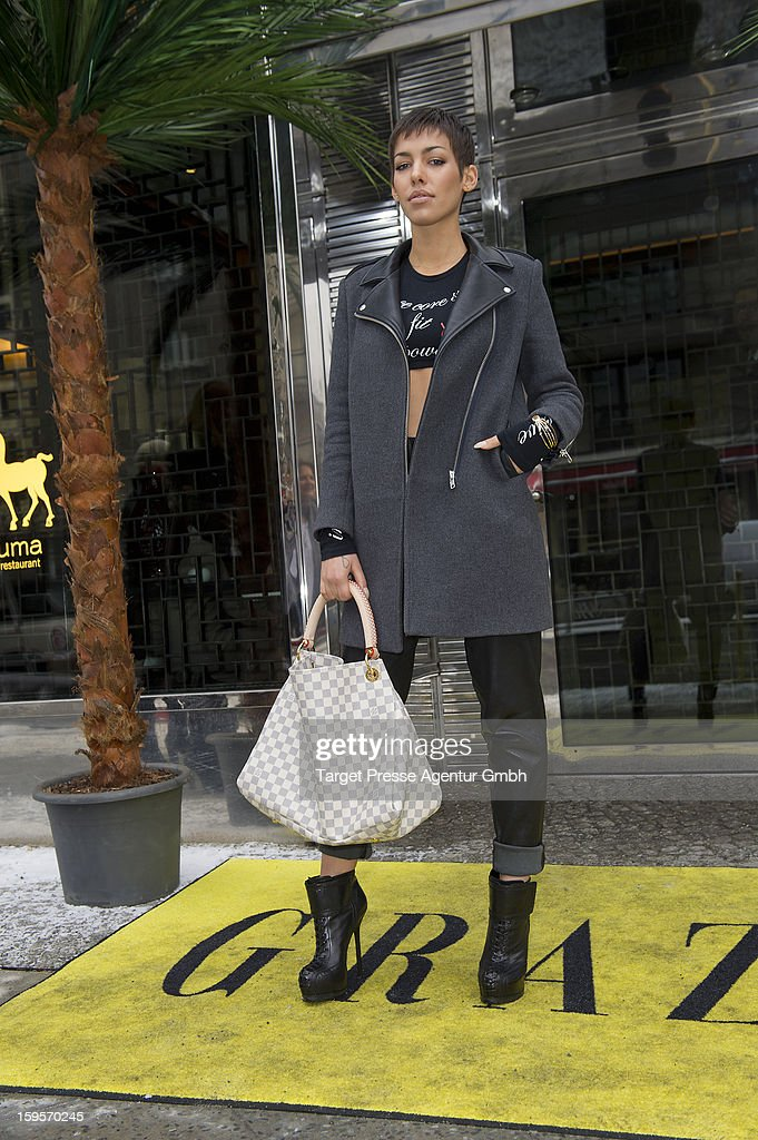 Alina Sueggeler attends the Grazia Pop Up Casino during the Mercedes Benz Fashion Week Autumn/Winter 2013/14 at the Restaurant Uma on January 16, 2013 in Berlin, Germany.