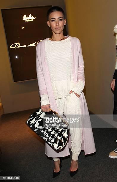 Alina Sueggeler singer Frida Gold attends the LaLa Berlin Dinner with Cinderella during the MercedesBenz Fashion Week Berlin Autumn/Winter 2015/16 at...
