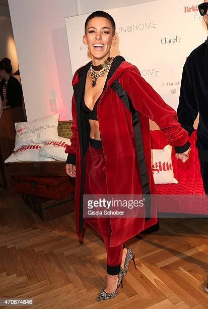 Alina Sueggeler singer of the band Frida Gold during the Brigitte Fashion @Home event on April 23 2015 in Munich Germany