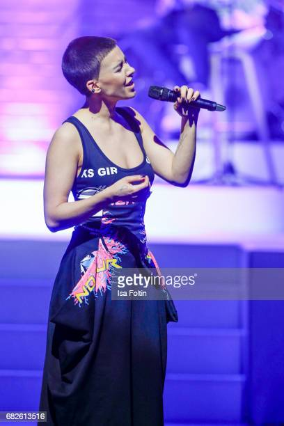 Alina Sueggeler singer of the band 'Frida Gold' performs at the GreenTec Awards Show at ewerk on May 12 2017 in Berlin Germany