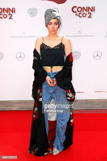 Alina Sueggeler singer of the German band Frida Gold attends the 'Conni Co 2 Das Geheimnis des TRex' premiere on April 9 2017 in Berlin Germany
